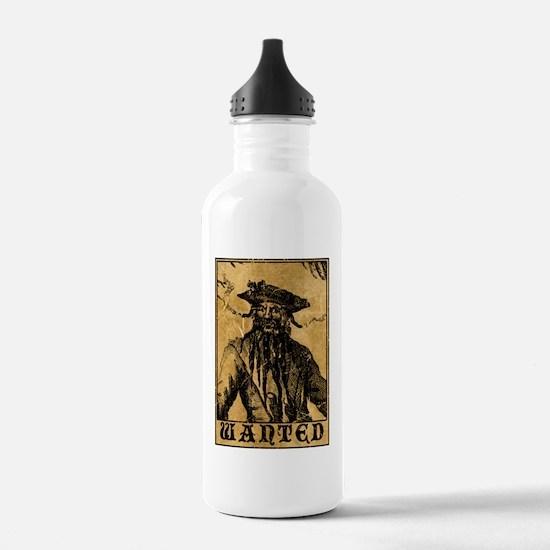 Blackbeard Wanted Post Water Bottle