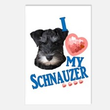 Black and White Schnauzer Postcards (Package of 8)