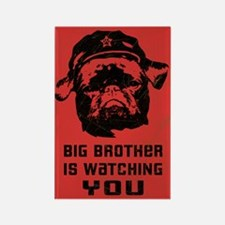 Big Brother is Watching YOU- Black Pug Magnet
