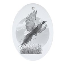Pheasant Oval Ornament
