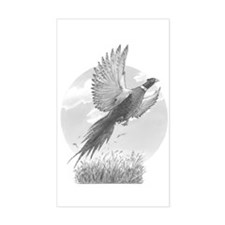 Pheasant Rectangle Decal
