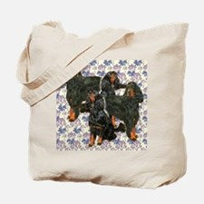 Gordon Setters In The Garden Tote Bag