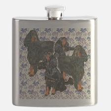 Gordon Setters In The Garden Flask