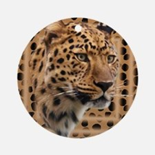 Leopard Spots Round Ornament