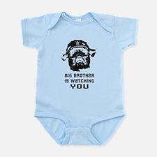 Big Brother - Black Pug Baby creeper