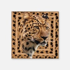 "Leopard Spots Square Sticker 3"" x 3"""