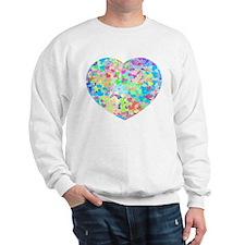 Bright Confetti Hearts Sweatshirt