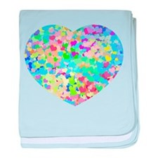 Bright Confetti Hearts baby blanket