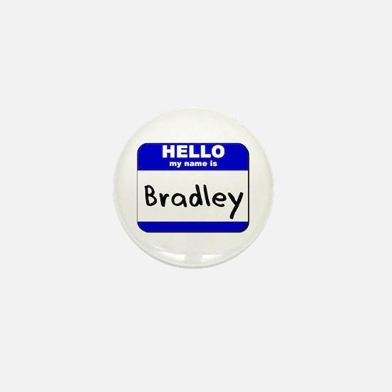 hello my name is bradley Mini Button