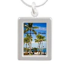 Islamorada, Florida - Da Silver Portrait Necklace