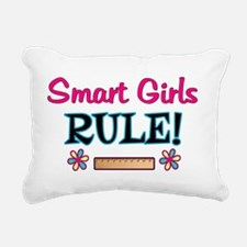 Smart Girls Rule! Rectangular Canvas Pillow