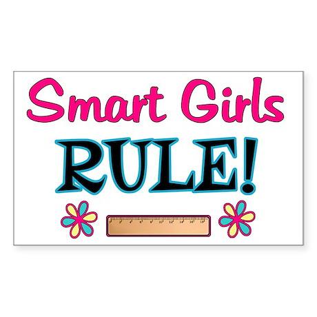 Smart Girls Rule! Sticker (Rectangle)
