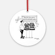 Slightly Defective Referee Shirts Round Ornament