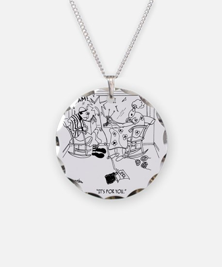 Its For You Necklace Circle Charm