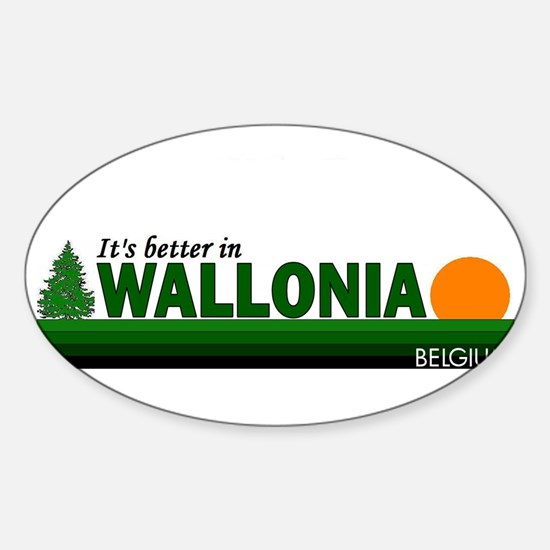 Its Better in Wallonia, Belgi Oval Decal