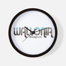 Wallonia, Belgium Wall Clock