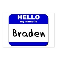 hello my name is braden  Postcards (Package of 8)