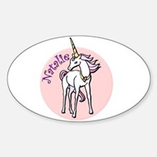 Natalie Unicorn Oval Decal