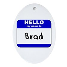 hello my name is brad  Oval Ornament