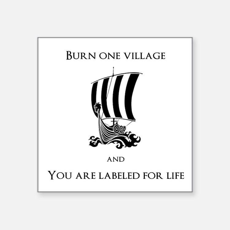 Viking -Burn one village Sticker