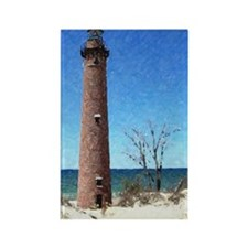Point Sable Michigan Lighthouse Rectangle Magnet