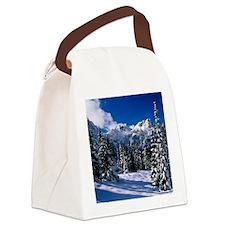 Rural Farm Life Snow Scene Canvas Lunch Bag
