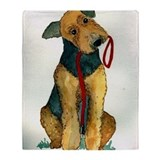 Airedale terrier Blankets