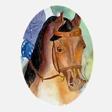 Arabian Saddleseat Horse Oval Ornament
