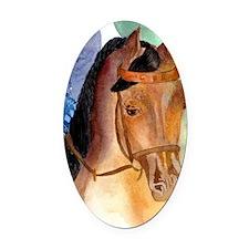 Arabian Saddleseat Horse Oval Car Magnet