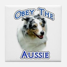 Aussie Obey Tile Coaster