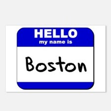 hello my name is boston  Postcards (Package of 8)
