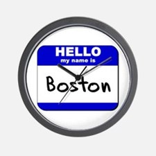 hello my name is boston  Wall Clock