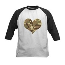 Camouflage Heart Green and Brown Baseball Jersey