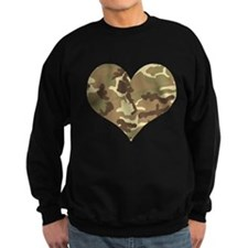 Camouflage Heart Green and Brown Sweatshirt