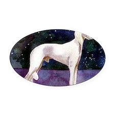 Saluki Dog Oval Car Magnet