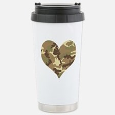 Camouflage Heart Green and Brown Travel Mug