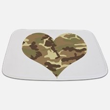 Camouflage Heart Green and Brown Bathmat