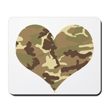 Camouflage Heart Green and Brown Mousepad