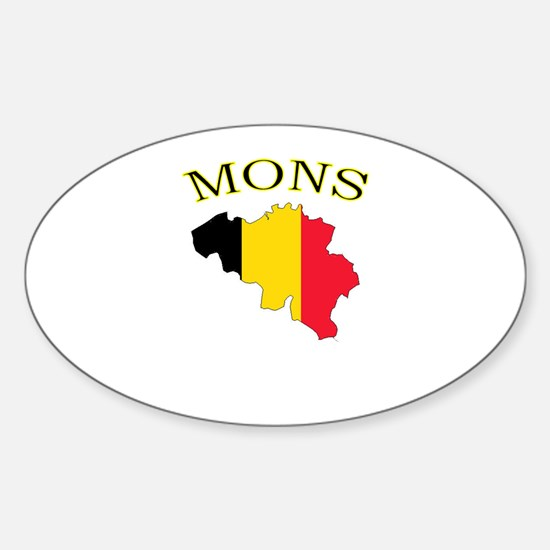 Mons, Belgium Oval Decal