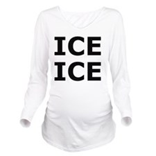 Ice Ice Baby Long Sleeve Maternity T-Shirt