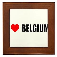 I Love Belgium Framed Tile