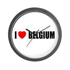 I Love Belgium Wall Clock