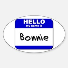 hello my name is bonnie Oval Decal