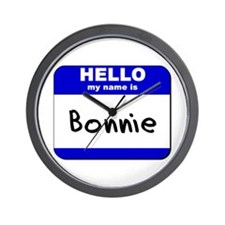 hello my name is bonnie  Wall Clock