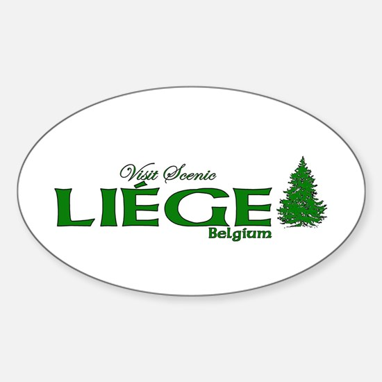 Liege, Belgium Oval Decal