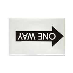 Wrong Way Rectangle Magnet (100 pack)