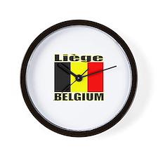 Liege, Belgium Wall Clock