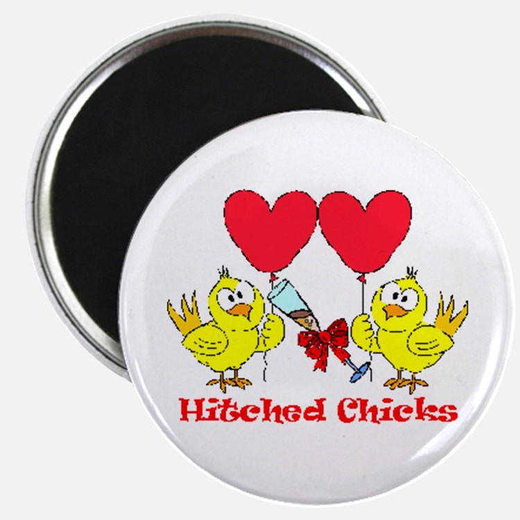 Hitched Chicks 2 Magnets