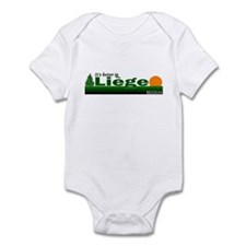 Its Better in Liege, Belgium Infant Bodysuit