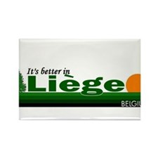 Its Better in Liege, Belgium Rectangle Magnet
